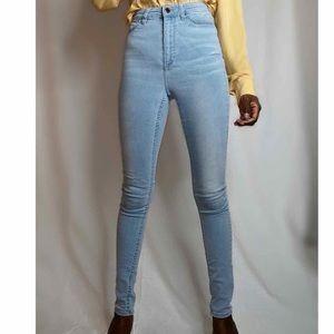 Highwaisted skinny jeans light wash